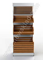 Стелаж хлібний Ристел з кошиками 1900*950 мм(приставний), фото 1