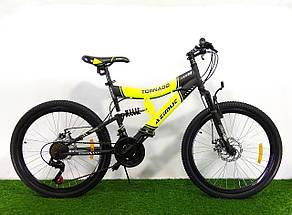Горный подростковый двухподвесный велосипед Azimut Tornado 24 GD, фото 3