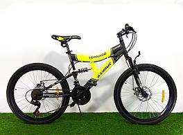 Горный подростковый двухподвесный велосипед Azimut Tornado 24 GD