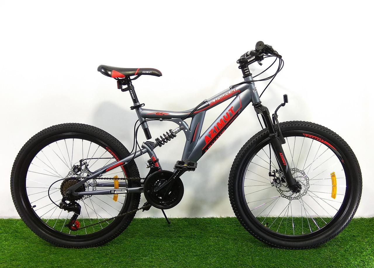 Подростковый двухподвесный велосипед Azimut Blackmount 24 GD