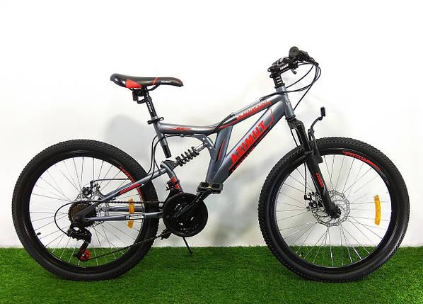 Подростковый двухподвесный велосипед Azimut Blackmount 24 GD, фото 2