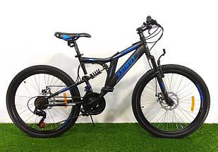 Подростковый двухподвесный велосипед Azimut Blackmount 24 GD, фото 3
