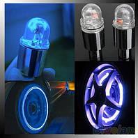 Светящиеся светодиодные колпачки с фотоэлементами на колеса для авто, мотоцикла (синий)