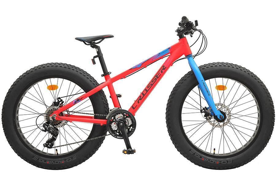 """Велосипед фэтбайк Crosser Fat Bike 24"""" (Алюминевый)"""