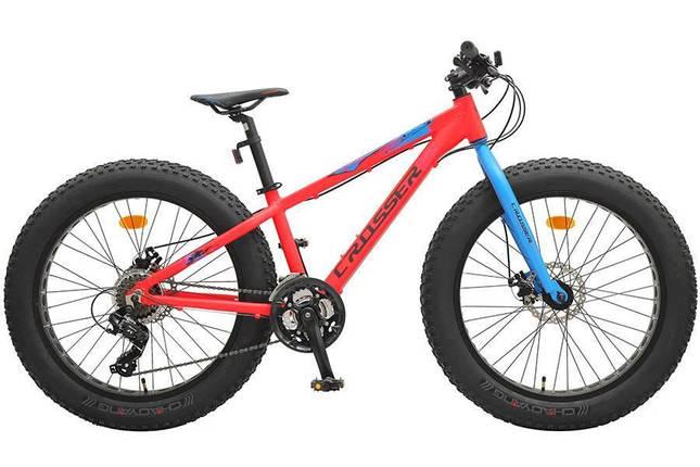 """Велосипед фэтбайк Crosser Fat Bike 24"""" (Алюминевый), фото 2"""