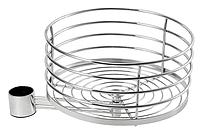 Полка на барную стойку боковая (выносная) диаметр 300 мм (хром) 016-34