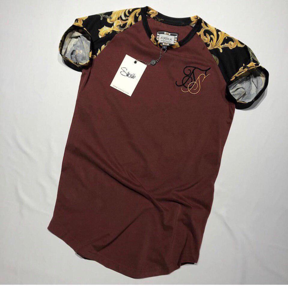 Мужская футболка бордовая SIKSILK SS2