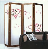 Наклейка на стену, виниловые наклейки декоративное цветущее дерево сакура 120см*50см (лист60*45см), фото 3