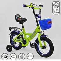 """Велосипед дитячий двоколісний 12"""" дюймів G-12042 Corso салатовий"""