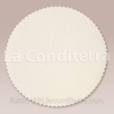 Белые пергаментные салфетки для кондитерских изделий (d=220 мм), в упаковке - 1000 шт.