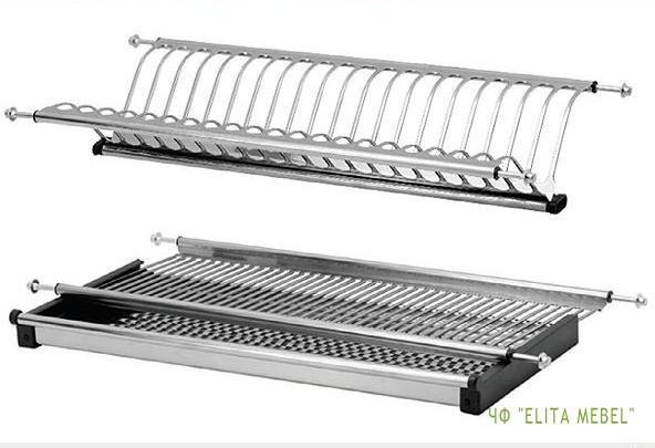 Сушка для посуды двухуровневая с поддоном 800 мм нержавеющая сталь - ООО «СТП-ГРУП» в Днепре