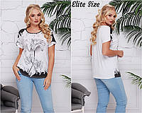 Нарядная футболка   (размеры 52-62)  0182-38, фото 1