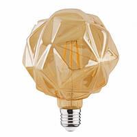 """Лампа светодиодная """"RUSTIC CRYSTAL-6"""" 6W Filament LED E27"""