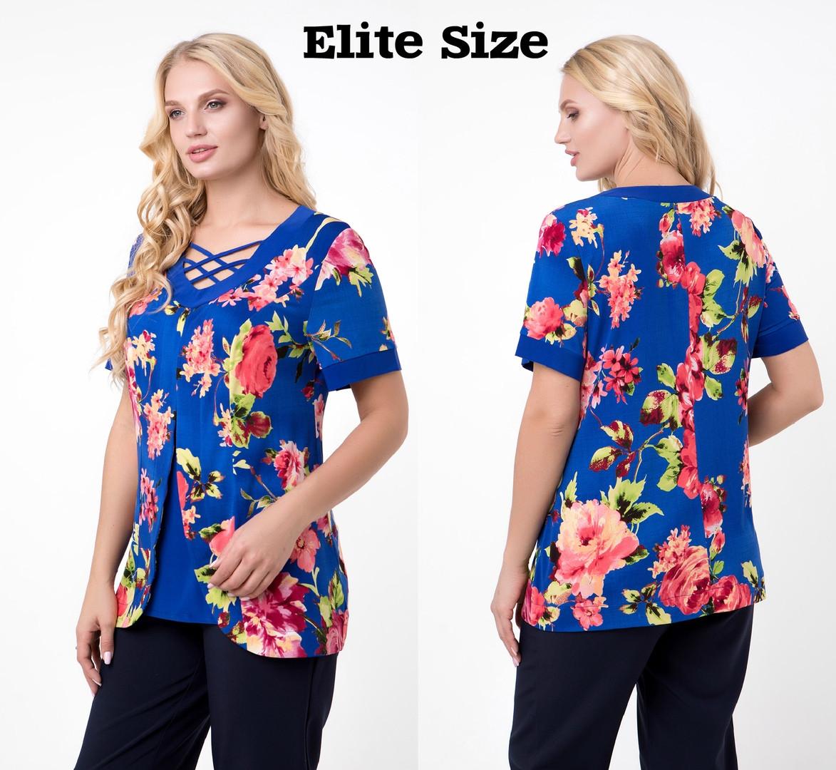Нарядная блуза  (размеры 52-62)  0182-47
