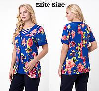Нарядная блуза  (размеры 52-62)  0182-47, фото 1