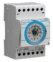 Таймер аналоговый, недельный, 16А, 1 переключаемый контакт, резерв хода 200 год., 3м Hager (EH171), фото 1