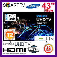"Телевизор Samsung Самсунг 43 дюйма UE43NU7100 4K Ultra HD Smart TV Т2 WiFi LED Телевізор 43"" (108см) 2018 (A)"