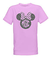 Детская стильная  хлопковая футболка для девочек с принтом Микки-Мауса