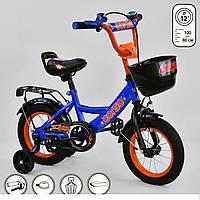 """Велосипед дитячий двоколісний 12"""" дюймів G-12108 Corso синьо-помаранчевий"""