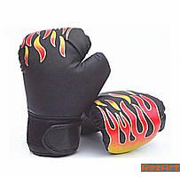 """Перчатки боксерские детские Zelart """"Пламя"""" 6 oz черный"""