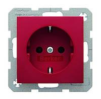 Розетка с з/к 16А/250В Berker S.1 Красный (47438912)