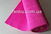 Креп бумага насыщенно-розовая №570
