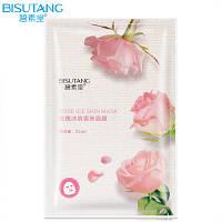 Bisutang Тканевая маска для лица с розовой водой, серином(аминокислота) и гиалуроновой кислотой