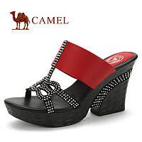 CAMEL кожа стильные женские шлепанцы., фото 1