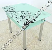 Кухонный стол Maxi Dt r 900/650 (2) белый с рисунком