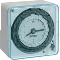 Таймер аналоговый, недельный, 16А, 1 переключаемый контакт, без резерва хода Hager (EH770), фото 1