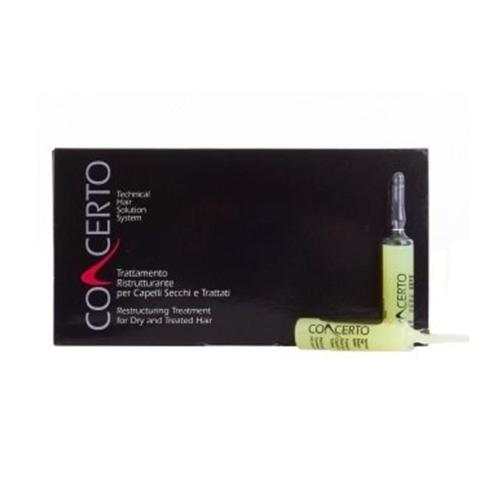Лосьон для волос Concerto Dry and Treated Hair Re-constructive Treatment 10 ампул по 10 мл