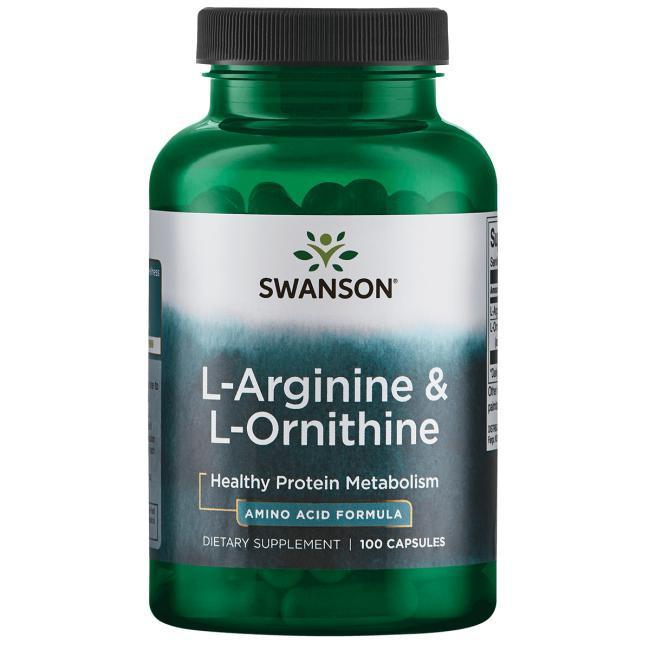 L-Аргинин с L-Орнитином, 500/250 мг. 100 капсул