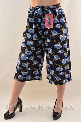 Бриджи женские с цветочным узором Капри женские , фото 2