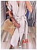 Платье миди в полоску, ткань: хб.  Размер: 42-44, 44-46 .Разные цвета (6500), фото 5