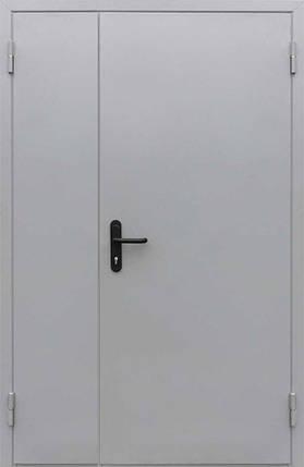 Противопожарные полуторные входные двери EI-30 серые (RAL 7035) в коридор и тамбур , фото 2