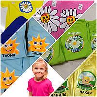 Футболки цветные однотонные для детского сада