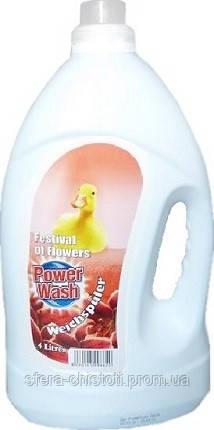 Кондиционер-ополаскиватель для белья Power Wash, фестиваль цветов, 4л