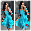 Сукня люкс якість, тканина: гепюр. Розмір: С,М,Л. Різні кольори (6501), фото 2