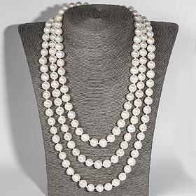 Белый жемчуг бусы, колье и ожерелья