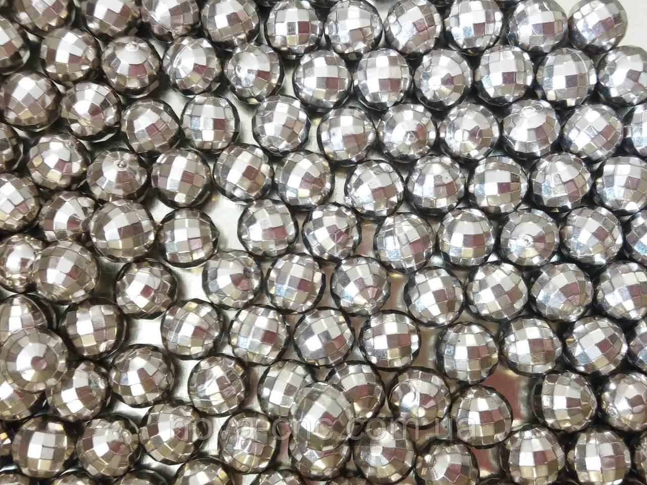"Бусины ""мини диско"" серебро 500 грамм"