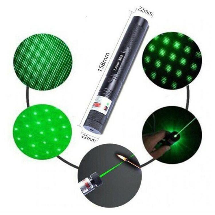 Зеленая лазерная указка Laser 303 GreenLaser 1000мВт  Cамый мощный зеленый лазер Green laser pointer