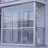 Французское остекление лоджий и балконов холодной алюминиевой раздвижной системой Профилко PR26