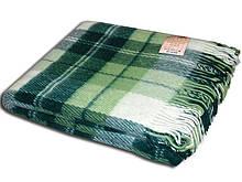 Вовняний Плед двоспальний Ельф 170*210 зелений
