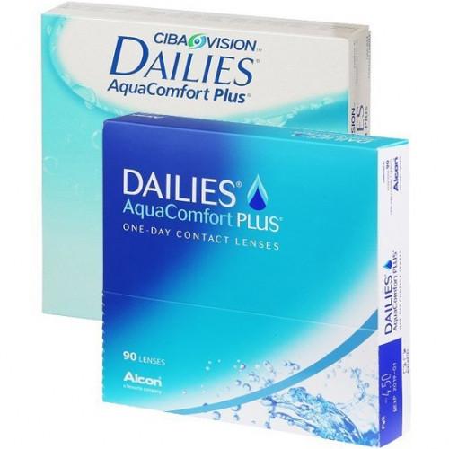 Однодневные контактные линзы Dailies AquaComfort Plus (90 шт)