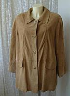 Куртка женская плащ замша натуральная р.52 от Chek-Anka