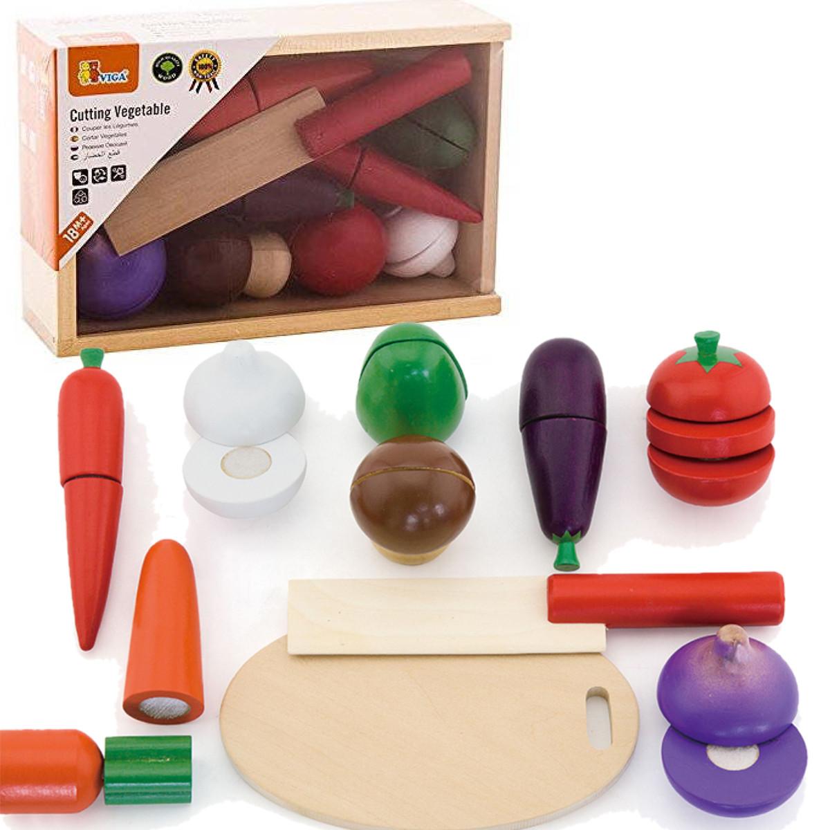Игрушечный набор овощей Viga Toys (56291)