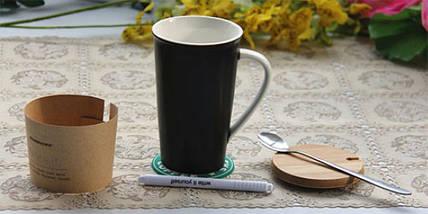 ✅  Керамическая чашка Starbucks с маркером, фото 2