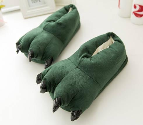 ✅  Домашние тапочки кигуруми Лапы Зеленые, фото 2