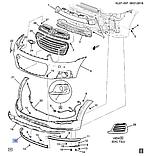 Бампер передний губа правая, Каптива C140, 95489536, фото 4