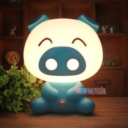 Светильник ночник Свинка Blue, фото 2